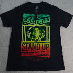 """Bob Marley """"Stand Up For Your Rights' Black Medium"""
